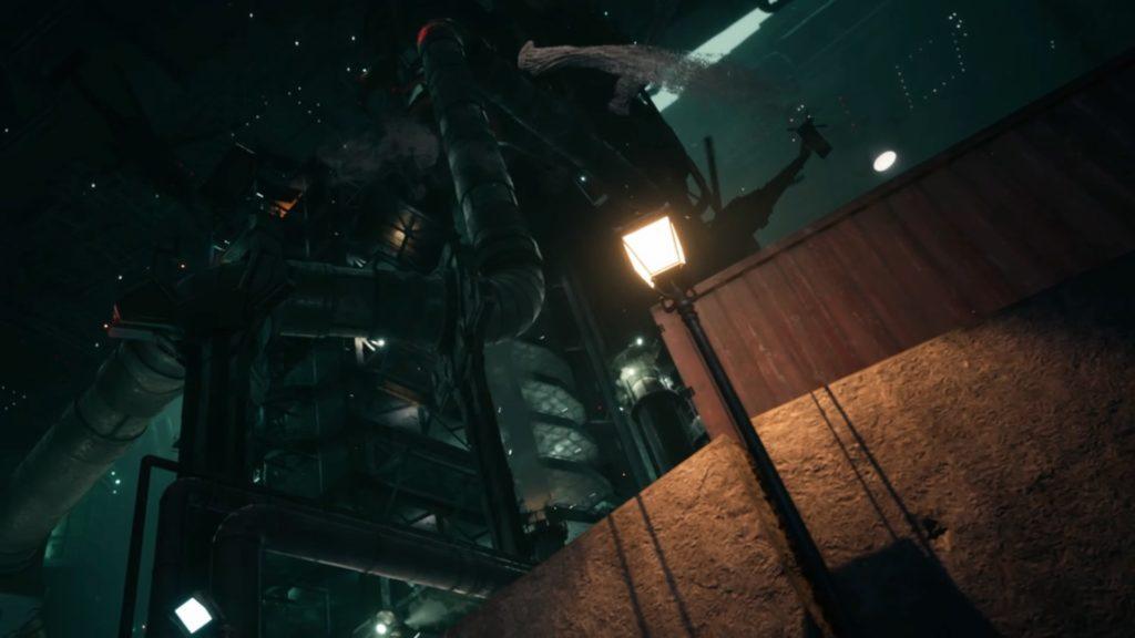 七番街支柱へ向かう黒ローブの魔物