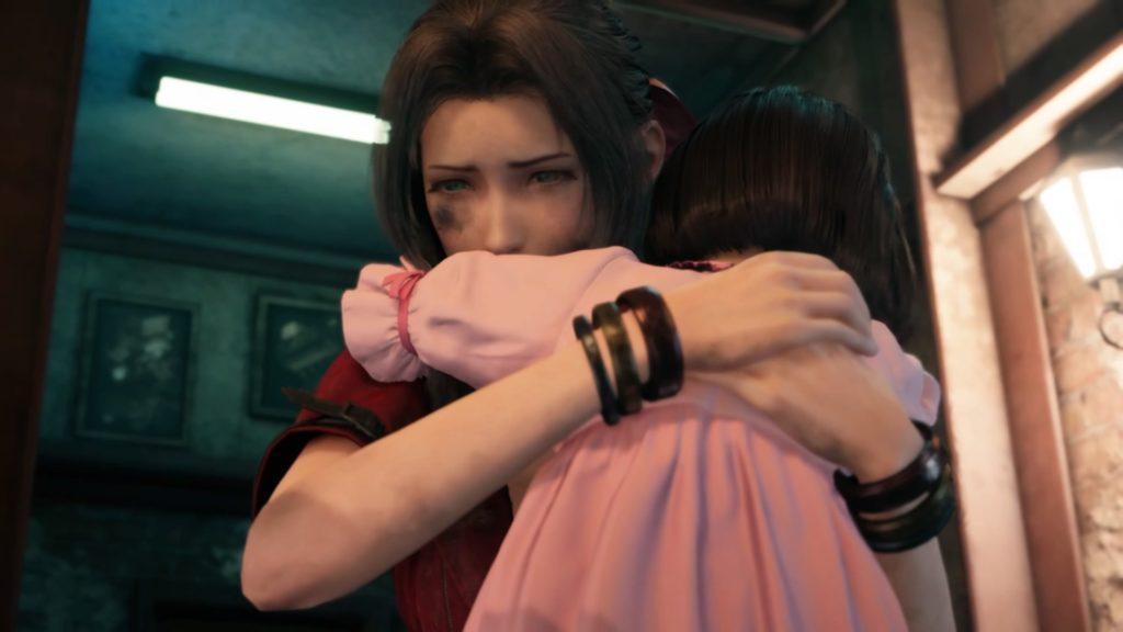 エアリスに抱きつくマリン
