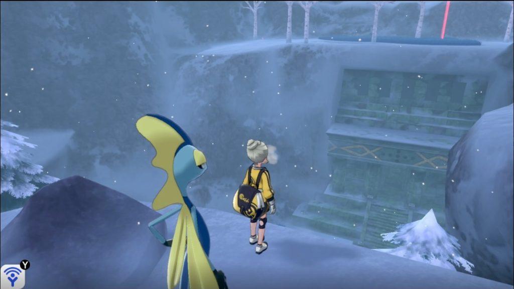 雪中渓谷で見つけたレジアイスの遺跡