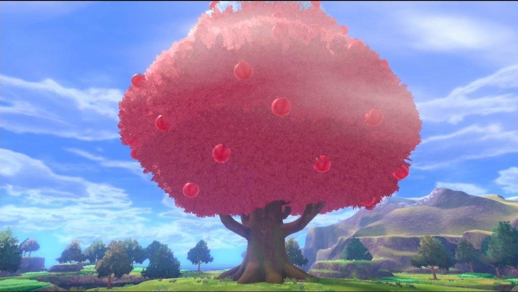 伝説のとりポケモンが集まる赤い木に到着