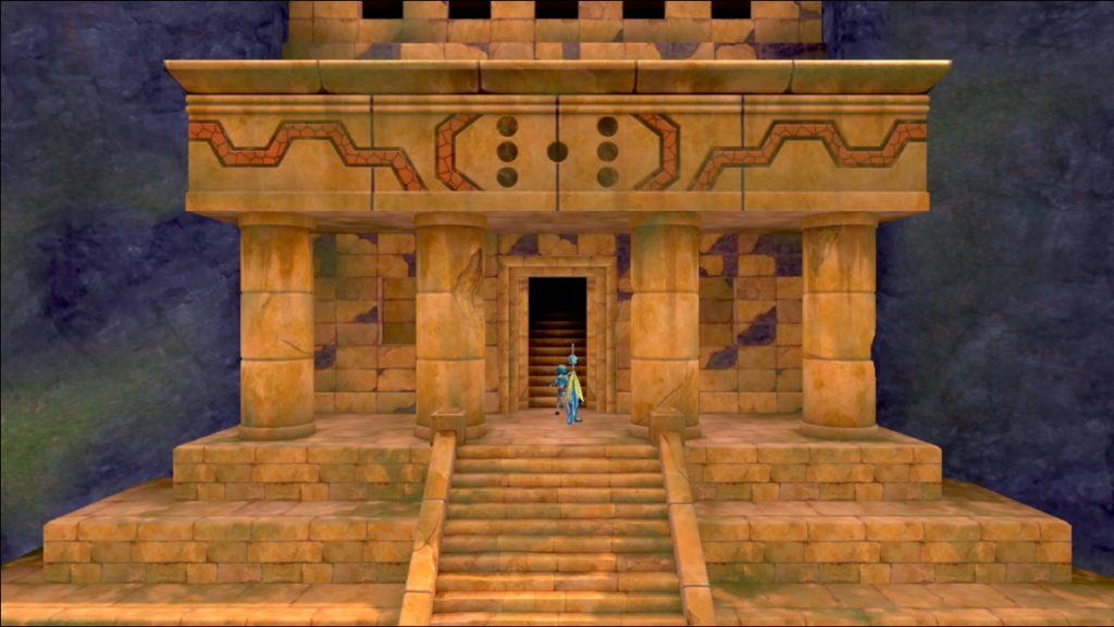岩山の遺跡の扉が開いた
